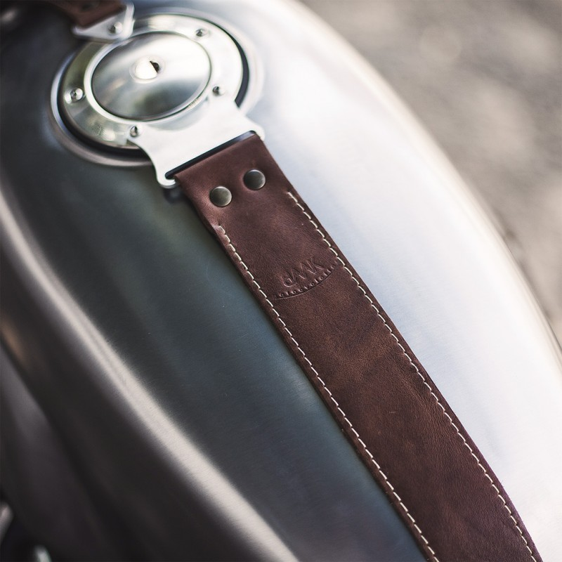 Leather Gas Tank Strap For V7 Gp Racing